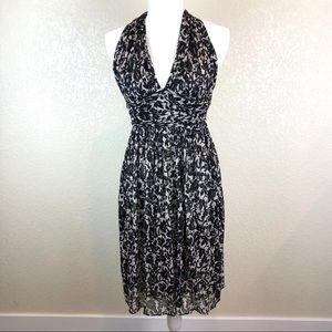Diane Von Furstenberg 100% Silk Halter Dress